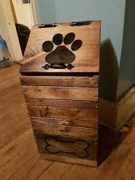 pet food storage ideas. Wooden Dog Food Storage Container By JulieEvesWoodworking For Pet Ideas