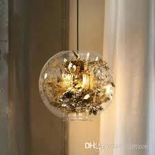 mercury glass hanging lantern led pendant lamps chandeliers new design