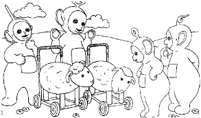 Small Picture Coloring Page Teletubbies coloring pages 12