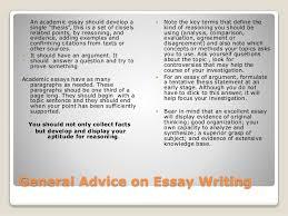 advice on academic writing we iv 2 general advice on essay writing iuml130151 an academic