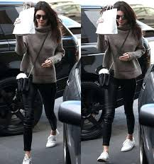 turtleneck sweater leather pants kenneth cole kam sneakers singapore model