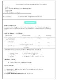 Resume Format Free Download Templates Free Download Word Document