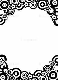 丸と星の幾何学模様 モノクロコピースペースの画像素材31017788