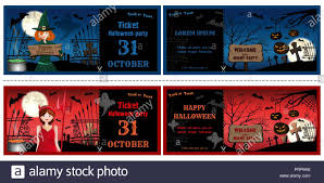 Halloween Invitations Cards Halloween Invitations Cards Set Face And Turnover Halloween