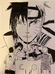 Sasuke vs Naruto fan art: Naruto