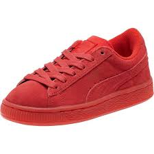 puma shoes for girls. puma girls shoes suede iced preschool sneakers high risk red-white e100i16 for