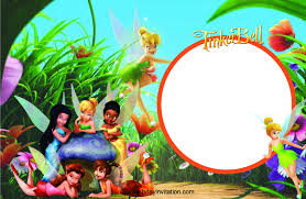Tinkerbell Invitations Printable Tinkerbell Party Invites Printable Free Magdalene Project Org
