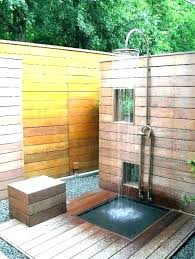 simple outdoor shower ideas simple outdoor shower plans stall enclosure best bamboo showers images homemade ideas simple outdoor shower ideas