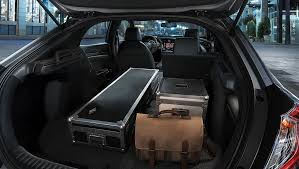 image of 2017 civic hatchback trunk space with rear seats down