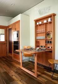 wall mounted folding table kitchen contemporary with beige drop down curved ceiling home furnishings tiny house