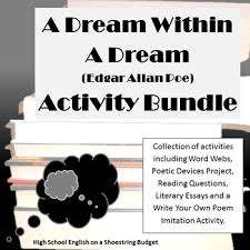 a dream in a dream activity bundle e a poe pdf literary a dream in a dream activity bundle e a poe pdf