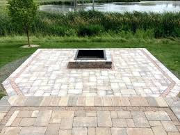 square paver patio with fire pit. Square Fire Pit Paver Patio With Fireplace Design Lavictorienne.co