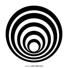 Isolated striped circle design Vector