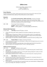 Collection Resume Format