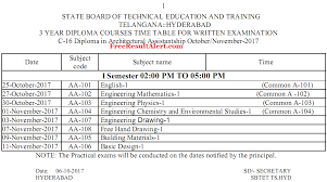 ts sbtet diploma time table oct nov official c c  ts sbtet diploma time table 2017