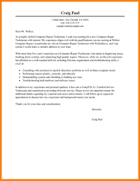 10 Word Computer Technician Cover Letter Offecial Letter