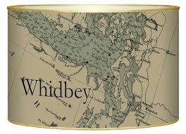 Lb2672 Whidbey Island Antique Nautical Chart Letter Box