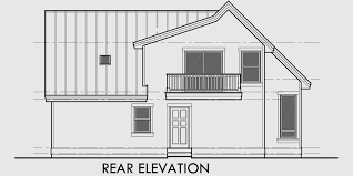 house rear elevation view for 9932 a frame house plan master on the main