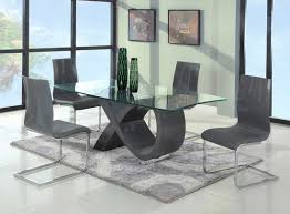 image of modern glass dining table and chairs
