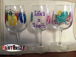 tickets summer themed beer wine glasses