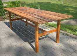 7ft dining table: custom ft indoor dining table made from western red cedar and finished with teak oil