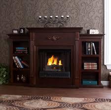 tennyson espresso gel fuel fireplace w bookcases very eco friendly fireglo gel