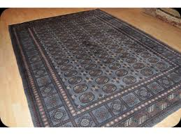 8 x 10 turkmen new rug gray blue thick wool