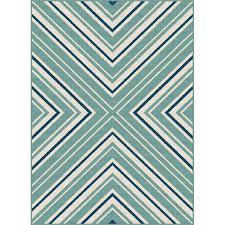 gct1023 5x8 5 x 7 medium blue and aqua indoor outdoor rug garden city