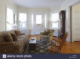 Victorian House Living Room Main Reception Room Living Room Parlor With View Of Front Stock