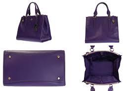 coach handbag 2way shoulder bag leather purple logo a rank