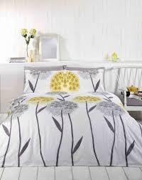 Lemon And Grey Bedroom Callium Dandelion Lemon Yellow Beige Grey White Duvet Cover Quilt