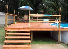 intex above ground pool decks. Brilliant Intex Deck Against Pool Above Ground Pool To Intex Decks