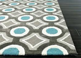 blue geometric area rug mystic blue 5 ft x 7 ft modern geometric regarding geometric area