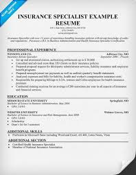 the best health insurance specialist resume sample   resumeseed comgallery of  the best health insurance specialist resume sample