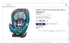 evenflo platinum triumph lx convertible car seat babies r us platinum triumph car seat