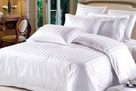 hotel bedding 250 thread count 100 egyptian cotton satin stripe duvet cover set