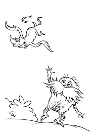 Printable Dr Seuss The Lorax Coloring Pages For Kids Seuss