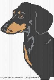 Chart Dog Graph Crochet Patterns Dachshund Dog Graph Afghan Pattern Chart