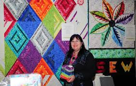 Craft lovers descend on Wagga | Photos, video | The Land & Angela Bradbury owner of Sew Bright Alpine Quilting from Bright in Victoria. Adamdwight.com