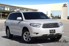 2010 White Toyota Highlander 3.5L For Sale - Park Place