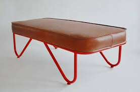 red leather bench cushion
