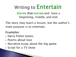 author s purpose modes of writing ppt  5 writing