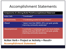 ... 9. Accomplishment Statements ...