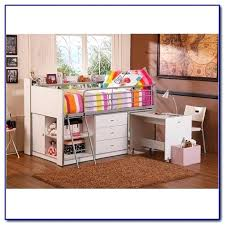 charleston storage loft bed with desk white berg furniture sierra twin over full stairs um size