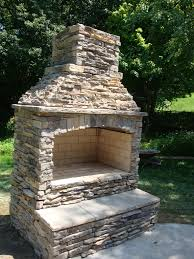 small outdoor stone fireplace kits