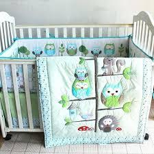 uni nursery bedding green owl leaves bird baby uni nursery bedding set crib quilt sheet per uni nursery bedding