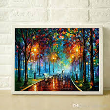 2018 romantic street lamp hand painted oil painting modern living room restaurant simple decorative style canvas painting jl003 from painting520