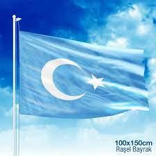 Doğu Türkistan Bayrağı - 100x150cm Raşel Bayrak - 100x150 cm