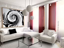 Interior Designs Living Room Love The Accents Of The Red Curtains And That Painting Rooms I