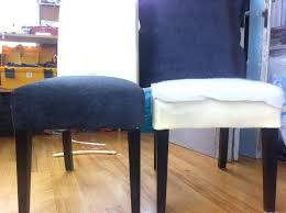 image of diy dining chair covers slip sew sch so that it is close to